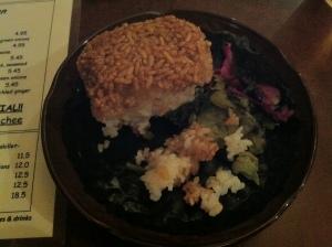 Yakionigiri with pickles